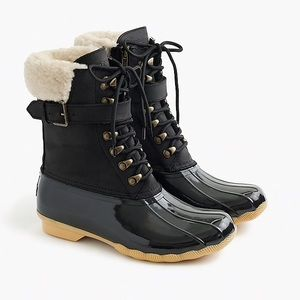 Sperry for J.Crew Shearwater Black Buckle Boots